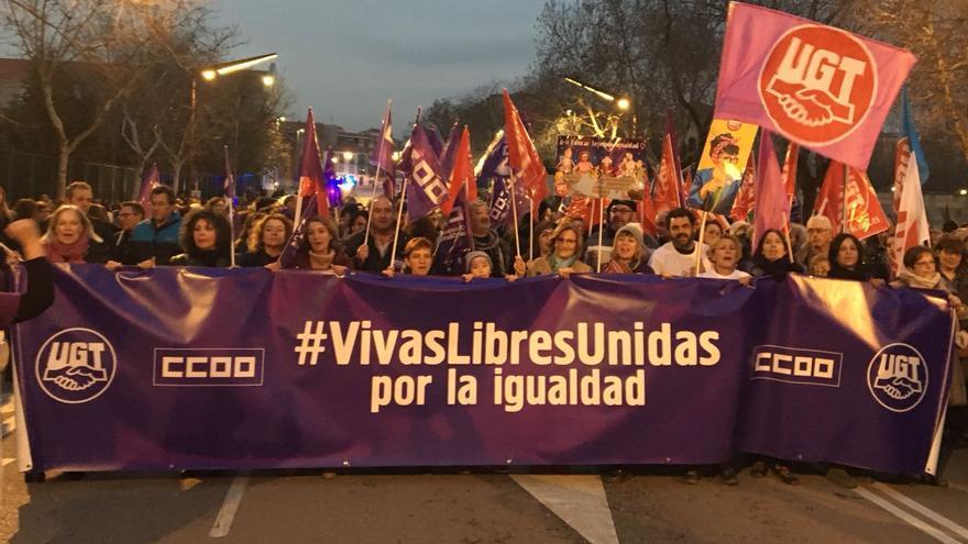 Manifestación 8M en Guadalajara. FOTO: Fernando Peiro UGT