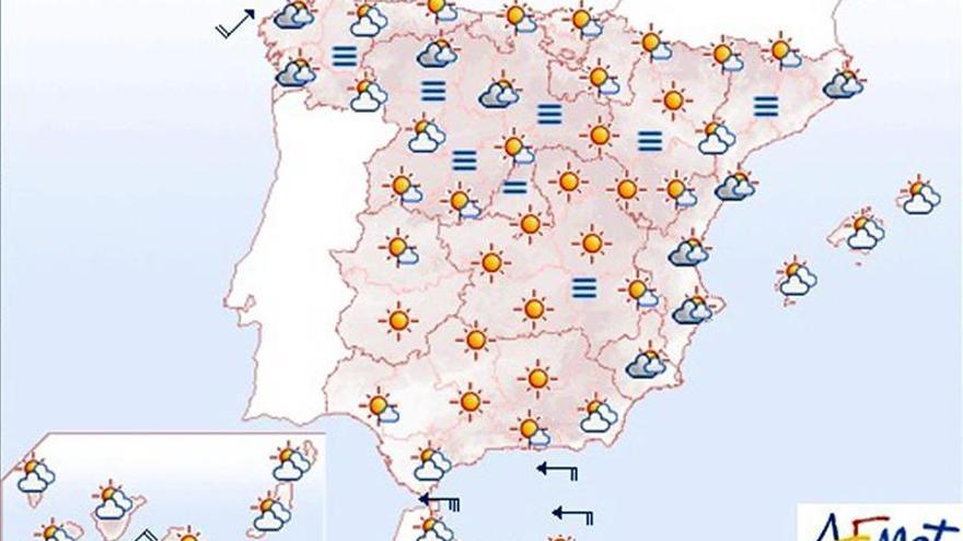 Hoy, lluvias en el litoral gallego y buen tiempo en el resto de España