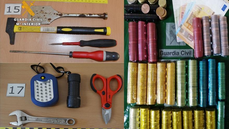 La Guardia Civil detiene a dos grupos dedicados principalmente a robos en bares de Cantabria