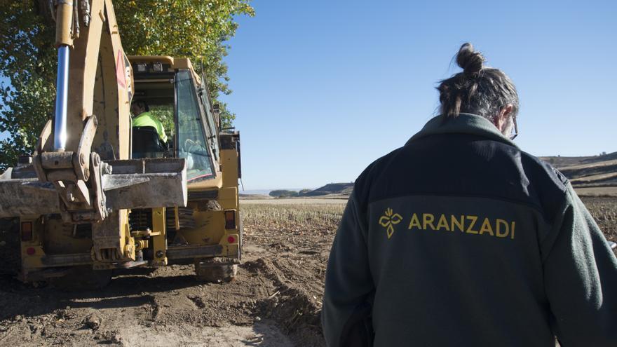Las excavaciones están dirigidas por miembros de la Fundación Aranzadi / FOTO: Daniel Rodríguez Castro