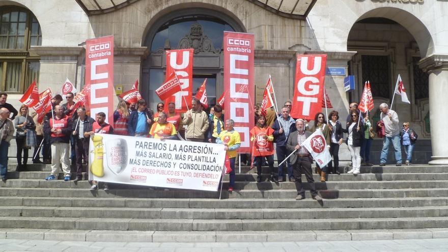 Los sindicatos cifran en un 87 el seguimiento de la for Oficina de correos santander