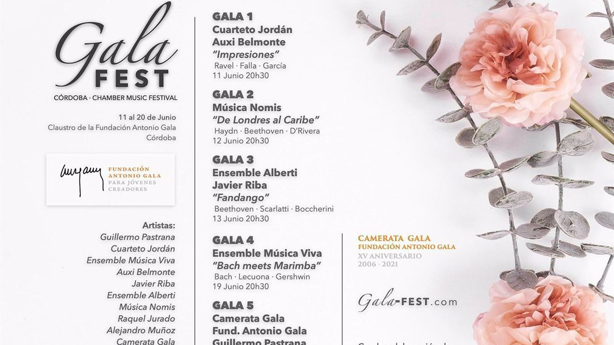 Programa del 'Gala Fest'.