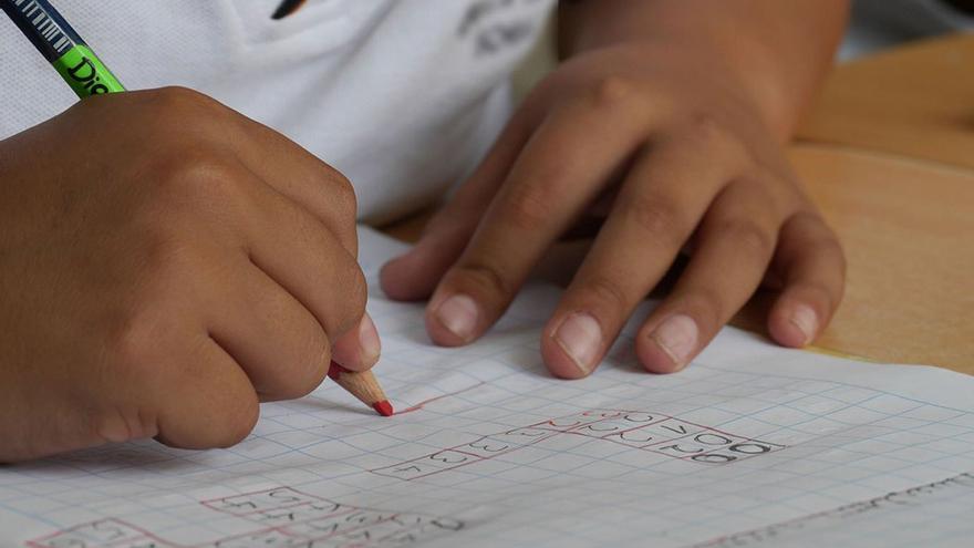 Un alumno haciendo sus tareas escolares. (DP).