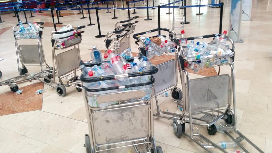 Aeropuerto Tenerife Norte durante la huelga de limpieza del pasado mes