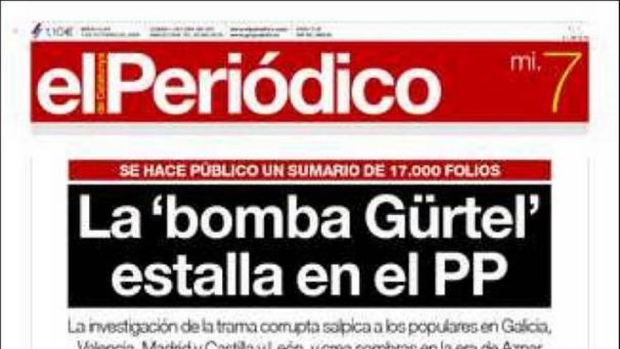 El 'caso Gürtel' invade las portadas de los principales periódicos nacionales #4