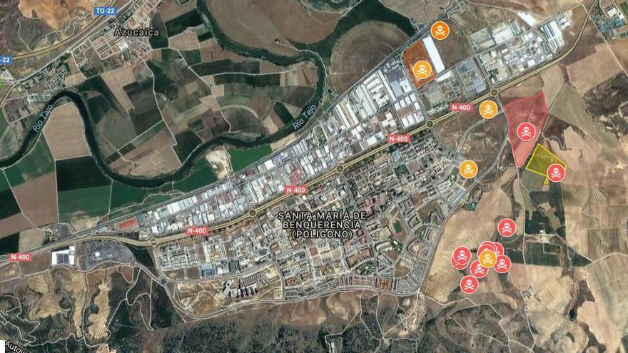 El mapa del amianto en Toledo