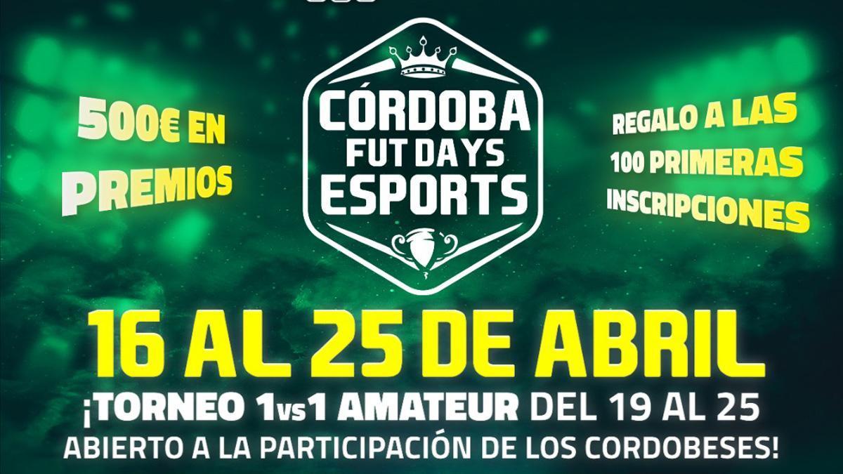Cartel de Córdoba Fut Days 'eSports'.