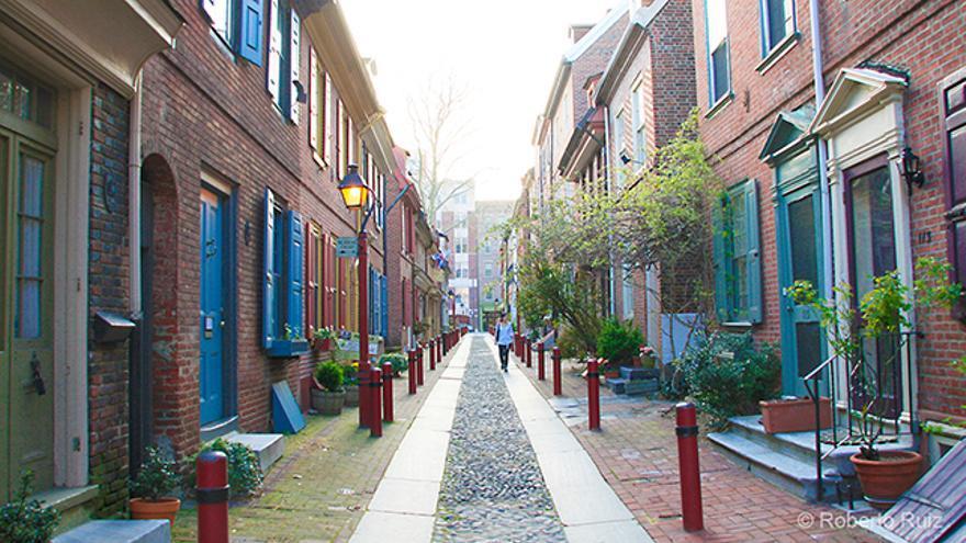 Elfreth's Alley, la calle histórica de Filadelfia, Estados Unidos