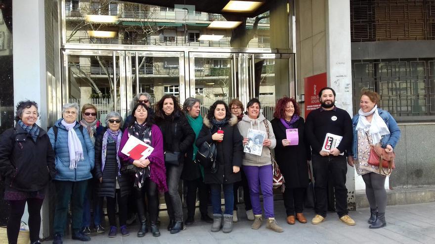 Representantes del Àrea de les Dones Intersindical Valenciana