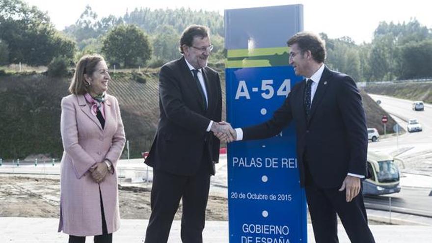 Rajoy, con Feijóo y Ana Pastor en la inauguración