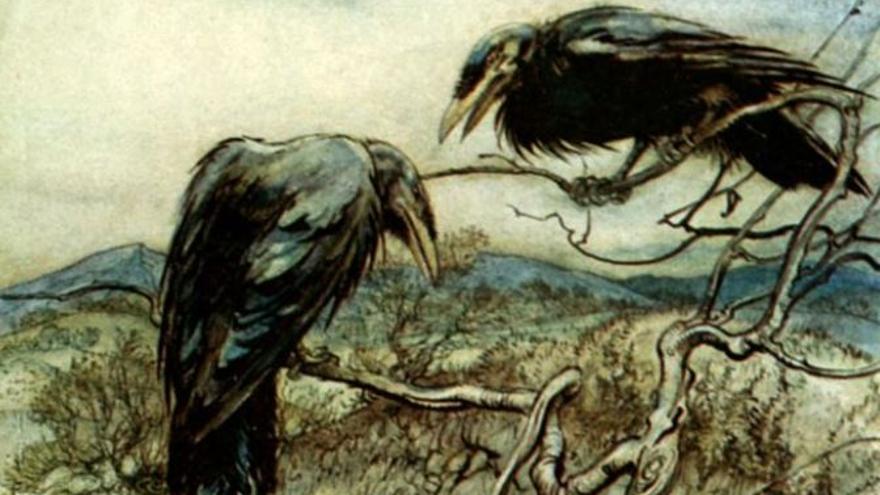 "Imagen de De Rackham, Arthur: ""Some British Ballads"" (1919), Dominio público."