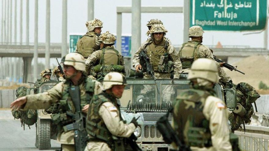 Imagen de archivos de tropas de EEUU en Irak.