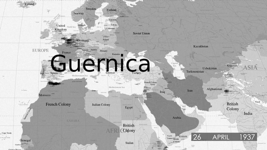 Bombardeo de Guernica, un ataque aéreo realizado sobre la población civil española en 1937