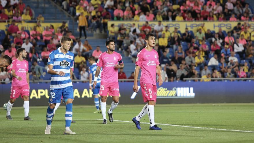 Mantovani durante el partido Las Palmas-Depor.