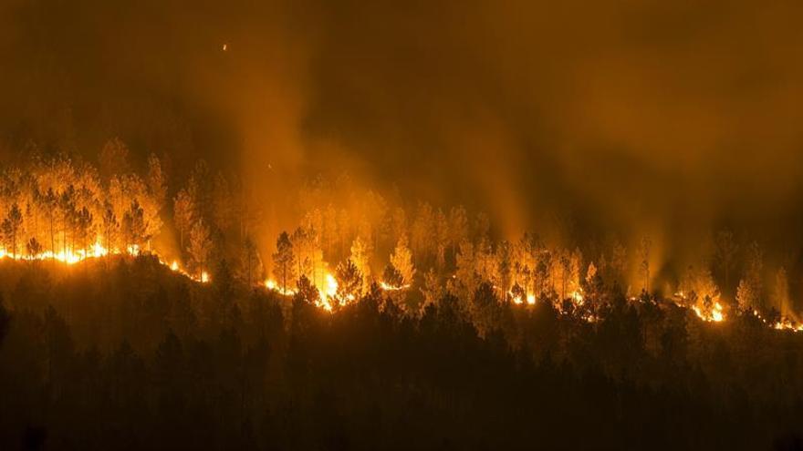 Un nuevo incendio forestal afecta a Lugo y cerca viviendas