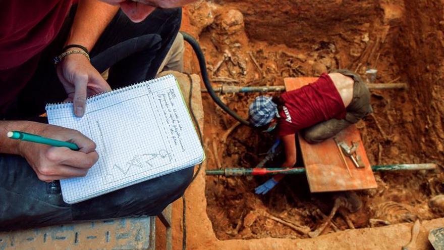 Un mes de excavación en la fosa de Paterna recupera restos de 29 fusilados