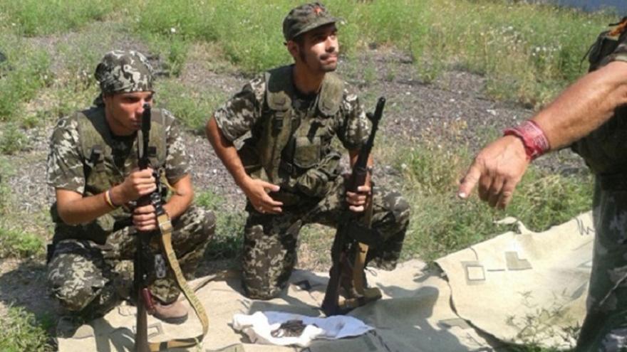 Algunos de los españoles que se fueron a combatir a Ucrania / Imágenes cedidas por la Policía
