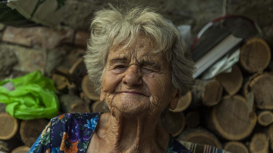 Sagrario lleva 63 años viviendo en la calle de la Rambla