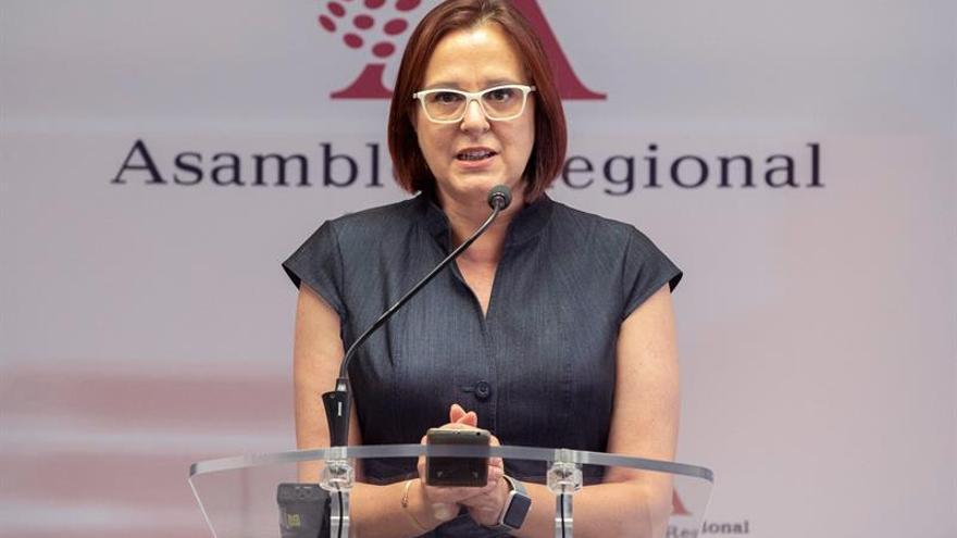 La portavoz del grupo parlamentario de Ciudadanos Isabel Franco