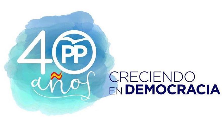 Logo de la campaña presentada por el PP para celebrar 40 años de democracia