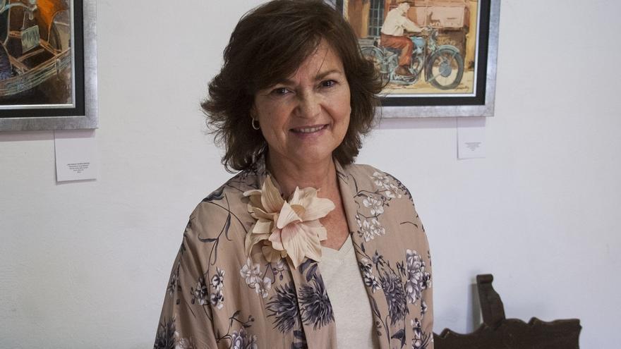 """La exministra Carmen Calvo (PSOE) dice que el TC no es la vía """"más idónea"""" para la cuestión secesionista en Cataluña"""
