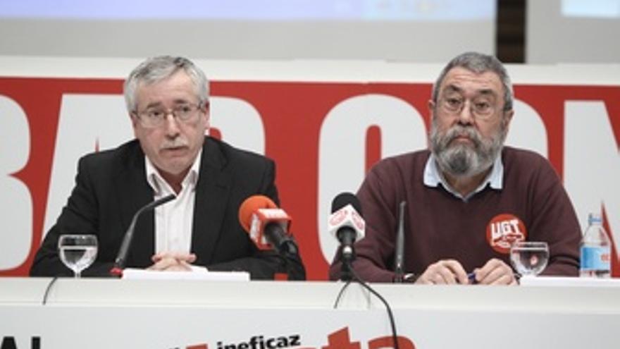 Ignacio Fernández Toxo Y Cándido Méndez