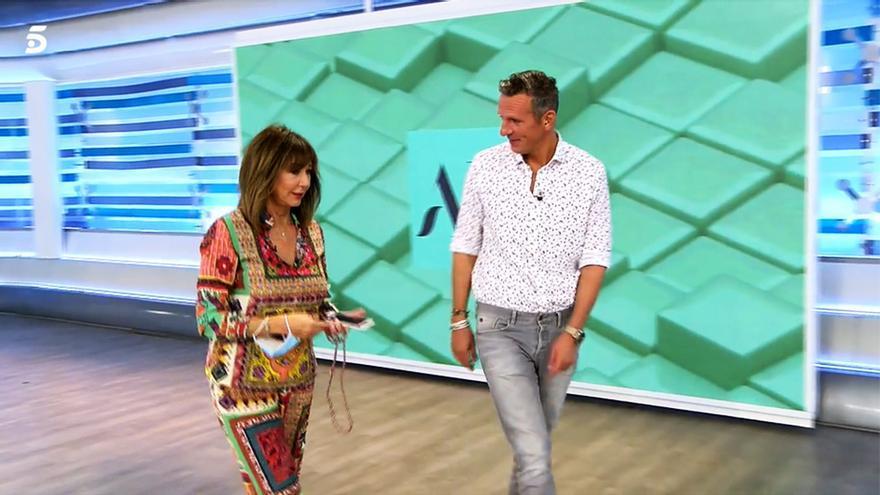 Joaquín Prat con Ana Rosa Quintana