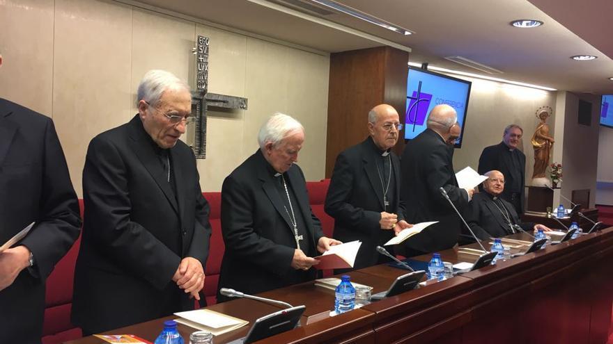Los cardenales Rouco Varela, Antonio Cañizares y Ricardo Blázquez / Jesús Bastante