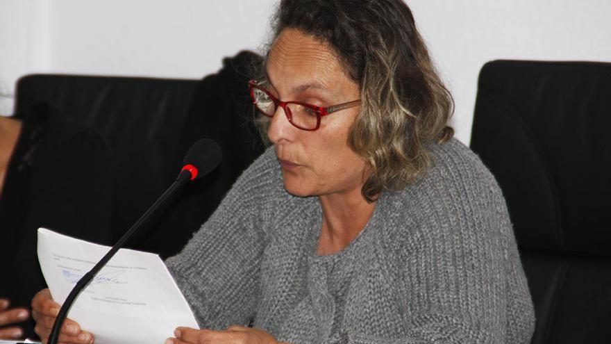 concejala Nieves García, durante un pleno de la pasada legislatura