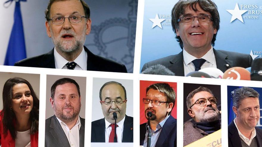 Principales actores políticos de las elecciones catalanas