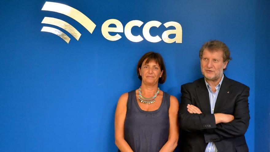 Lucas López y Amparo Osorio, director y subdirectora de Radio Ecca.