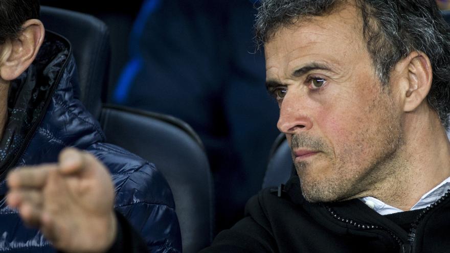 Luis Enrique anunció en rueda de prensa su decisión de no continuar en el Barça.