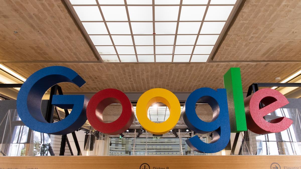 Vista de un logo de Google