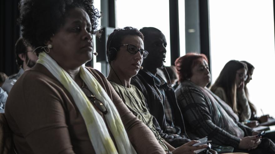 De izquierda a derecha: Patricia de R. Dominicana, Saida de Marruecos y Mamadou de Mauritania