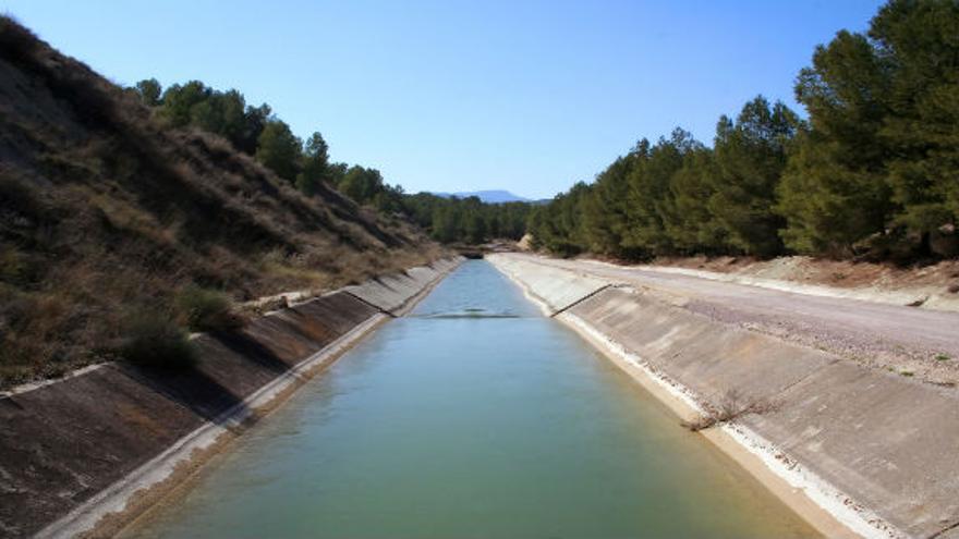Una imagen oficial del trasvase Tajo-Segura.
