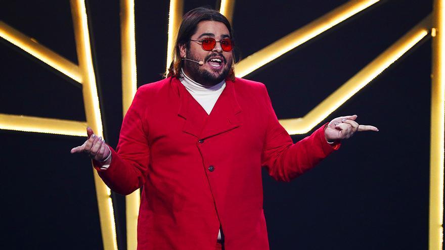 Brays Efe, durante su monólogo en los Premios Feroz