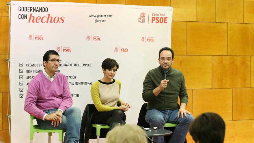 José Manuel Caballero, Isabel Rodríguez y Antonio Hernando en Ciudad Real / PSOE