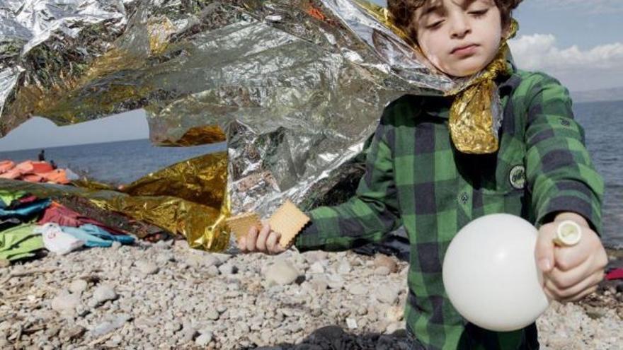 Uno de los niños que protagonizan la nueva campaña de Médicos Sin Fronteras