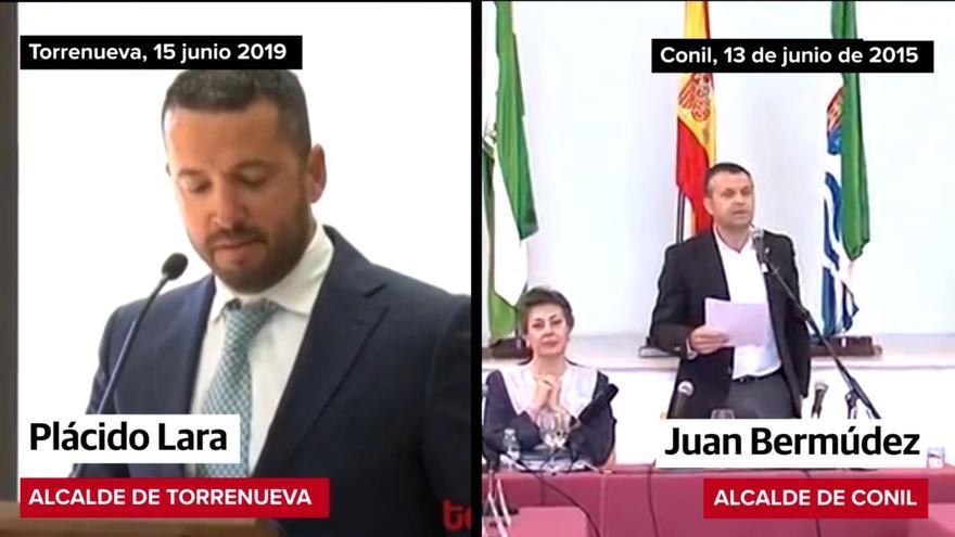 Plácido Lara copia el discurso de investidura de Juan Bermúdez.