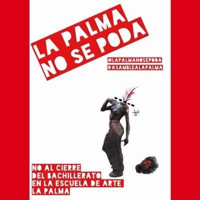 Cartel de protesta de los alumnos