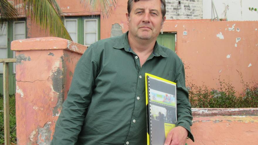 Reinhard Lamsfuss este jueves en Santa Cruz de La Palma. Foto: LUZ RODRÍGUEZ.