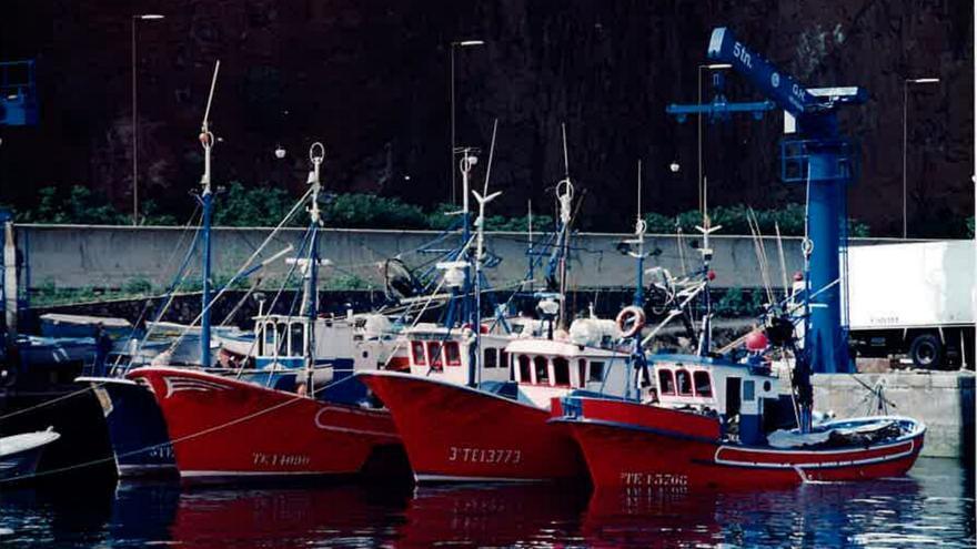 Imagen de archivo de barcos de la flota atunera en el muelle pesquero del Puerto de Santa Cruz de La Palma.
