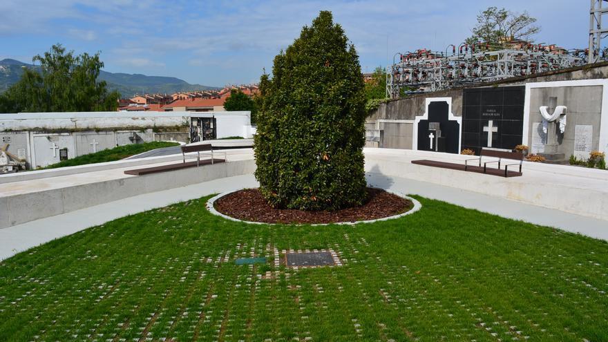 Jardín de los Recuerdos en el cementerio de Sestao