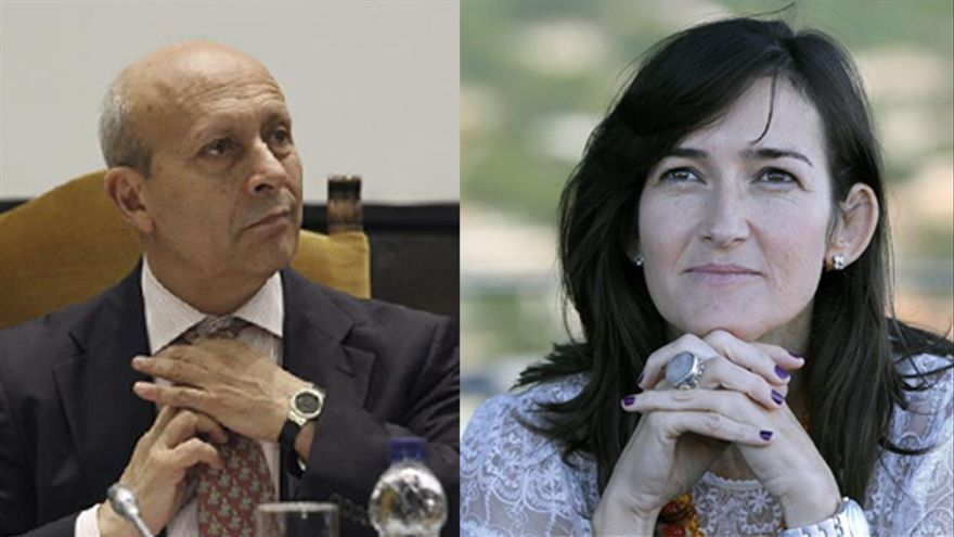 José Ignacio Wert y Ángeles González-Sinde: impulsores de la ley conocida como Sinde-Wert