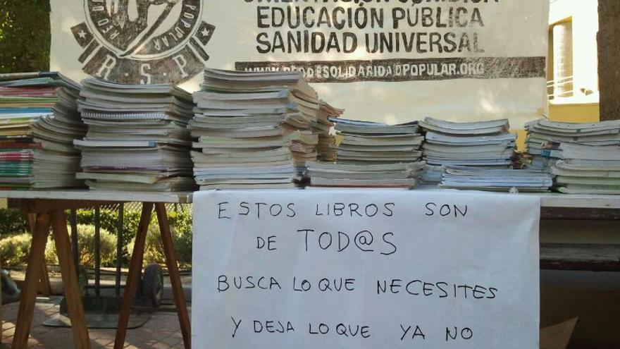 Libros de segunda mano recolectados por la Red de Solidaridad Popular. \ RSP