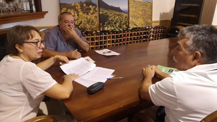 En la imagen, reunión entre Aspa y el Consejo Regulador de Vinos de La Palma.