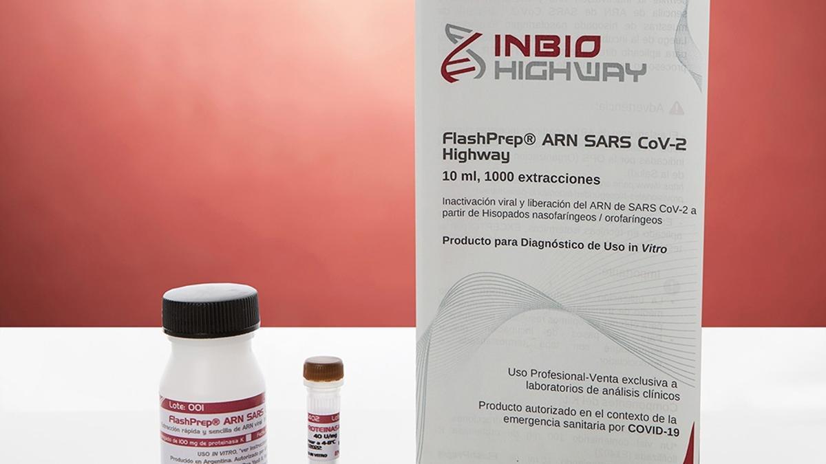 El kit lo fabrica y comercializa la empresa argentina Inbio Highway y ya se utiliza en laboratorios de diagnóstico en centros públicos y privados de todo el país.