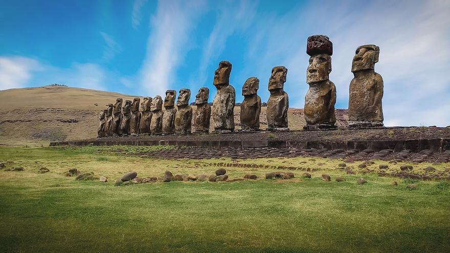 Estatuas Moai en la Isla de Pascua