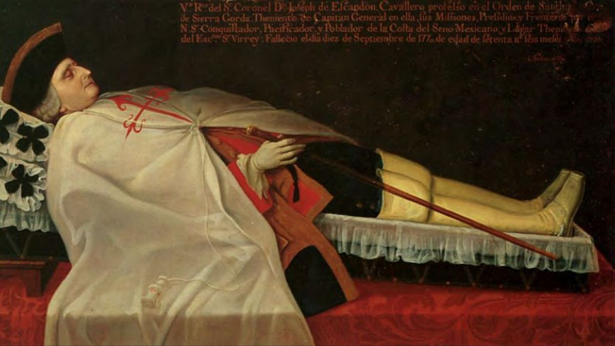 José de Escandón y Helguera, primer conde de Sierra Gorda y caballero de la Orden de Santiago.