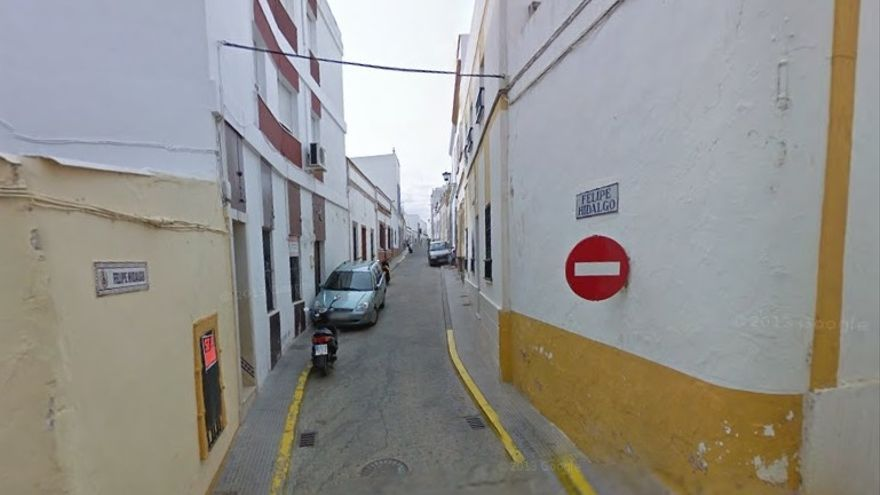 Calle Felipe Hidalgo de Ayamonte, que IU pide que ahora se llame 'Cura Diamantino García'